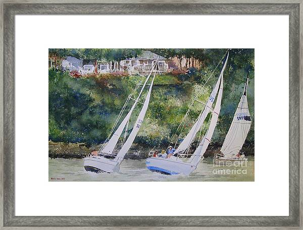 Grand Lake Regatta Framed Print