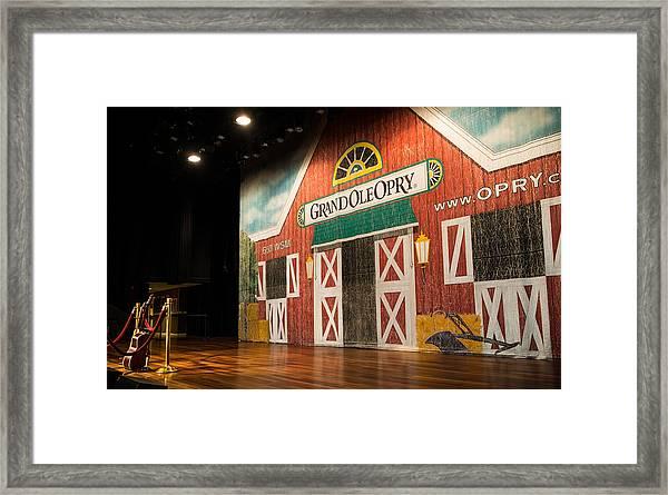 Ryman Grand Ole Opry Framed Print