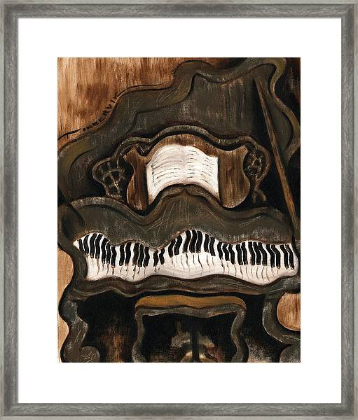 Tommervik Abstract Grand Piano Art Print Framed Print