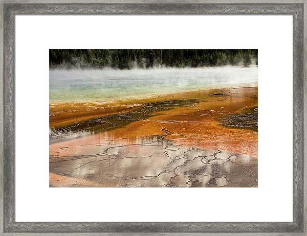 Grand Prismatic Spring, Middle Geyser Framed Print