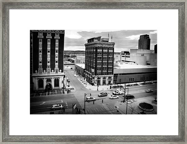 Grand Rapids 12 Black And White Framed Print