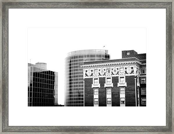 Grand Rapids 15 Black And White Framed Print