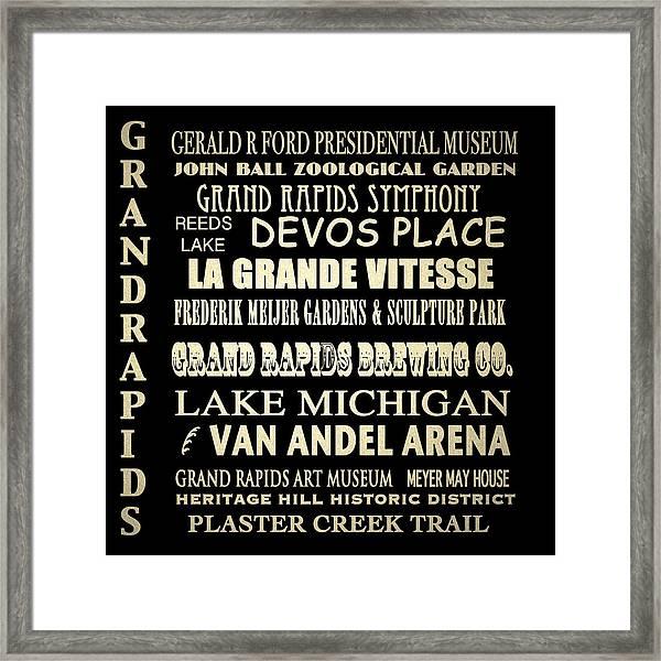 Grand Rapids Michigan Famous Landmarks Framed Print