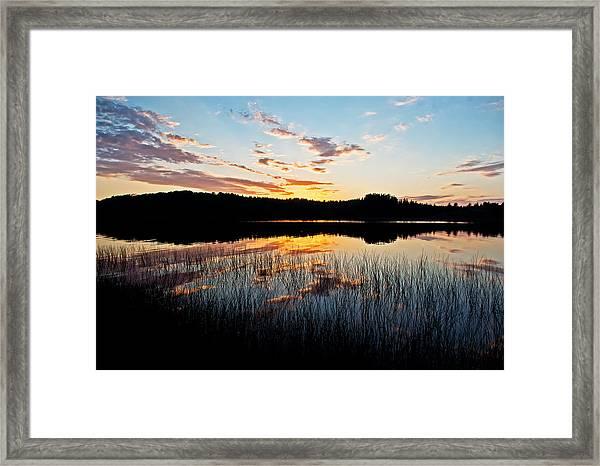 Grand Sable Lake Sunset Framed Print