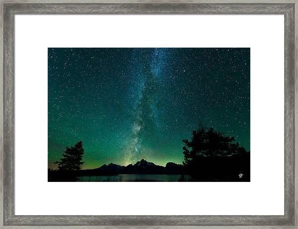 Grand Teton Stars Framed Print by Robert Yone