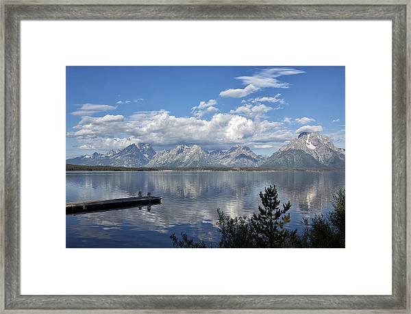 Grand Tetons In The Morning Light Framed Print