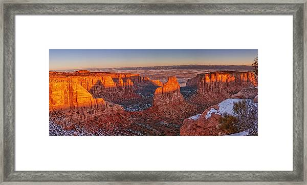 Grand View Sunrise Framed Print