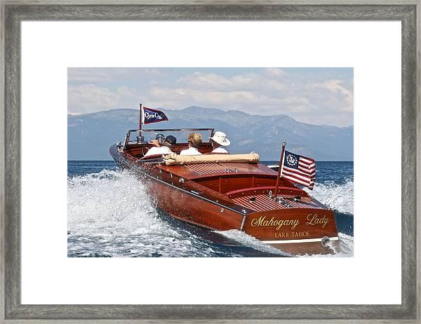 Grandcraft On Lake Tahoe Framed Print
