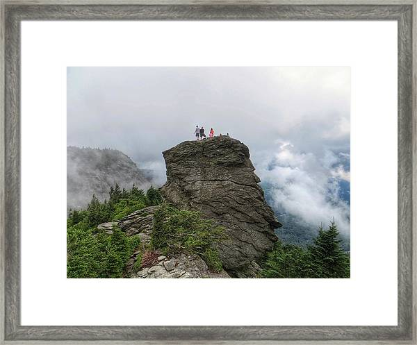 Grandfather Mountain Hikers Framed Print