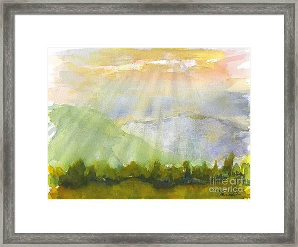 Grandma Cohen Rays Framed Print