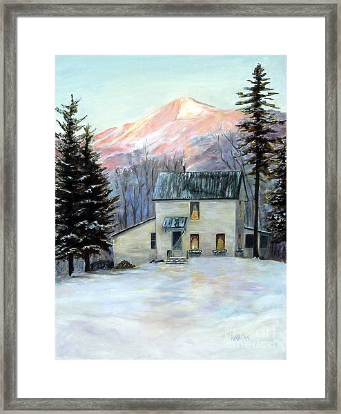 Framed Print featuring the painting Grandma's House by Wendy Ray