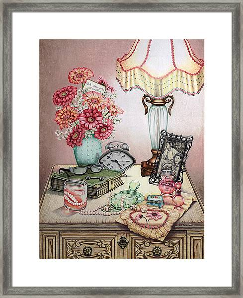 Grandma's Pearly Whites Framed Print