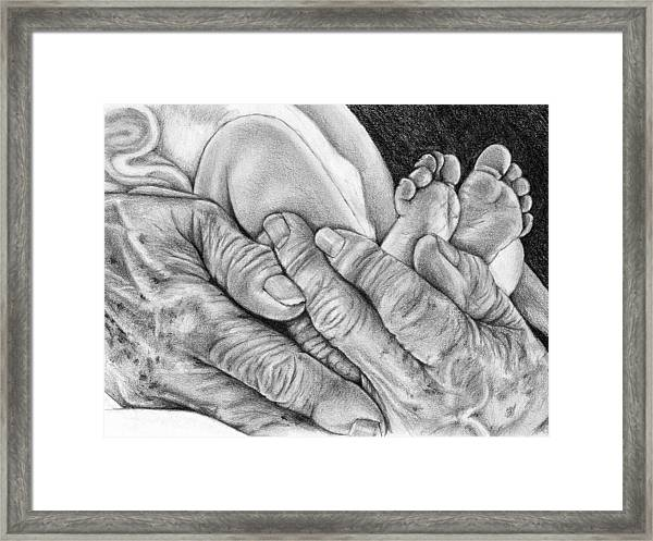 Grandmother's Hands Framed Print