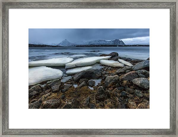 Granite And Ice Framed Print