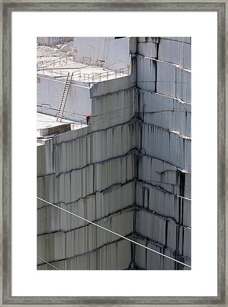 Granite Quarry Framed Print by Jim West