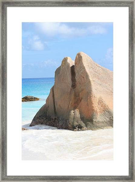 Framed Print featuring the photograph Granite Rock by Debbie Cundy