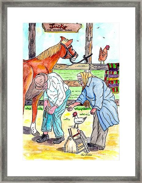 Granma And Granpa Framed Print