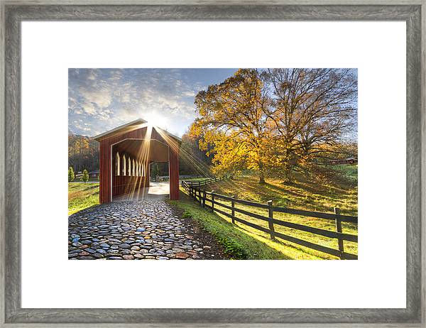 Granny Squirrel Bridge Framed Print