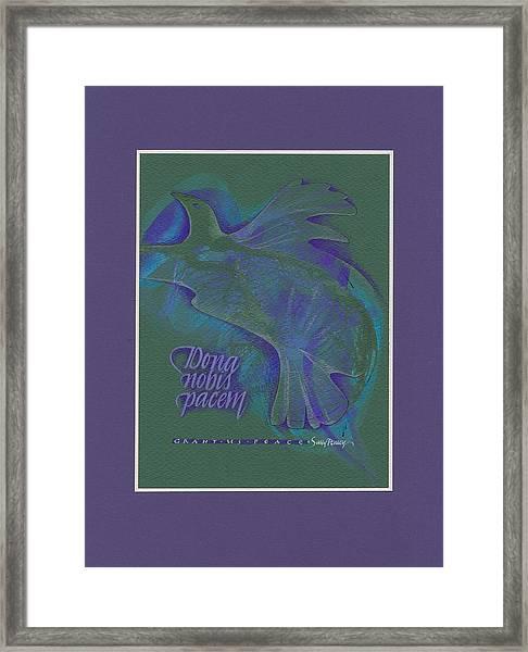 Grant Us Peace Framed Print