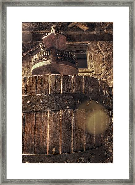Grape Press At Wiederkehr Framed Print