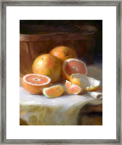 Grapefruit Framed Print