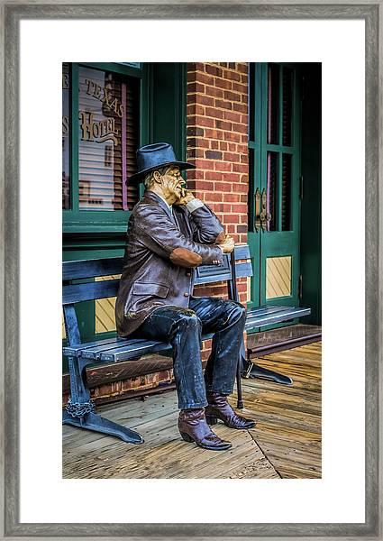 Grapevine Cowboy Framed Print