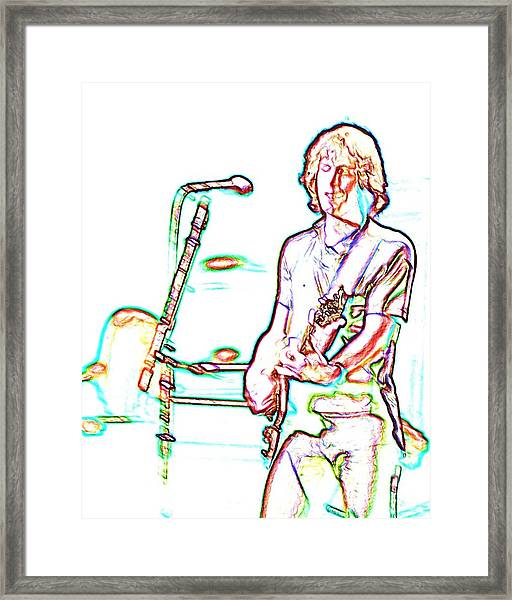 Grateful Dead - Bob Weir - Looks Like Rain Framed Print