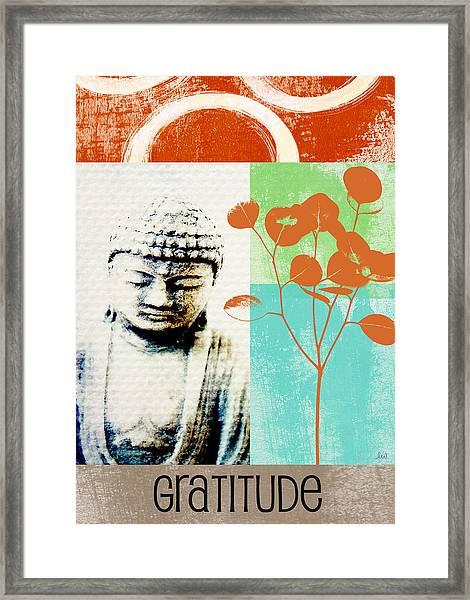 Gratitude Card- Zen Buddha Framed Print
