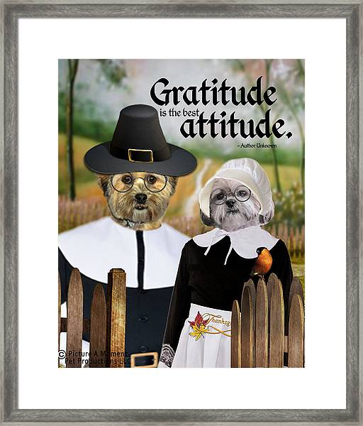 Gratitude Is The Best Attitude-1 Framed Print