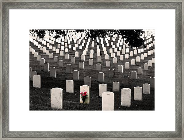 Graves At Arlington National Cemetery Framed Print