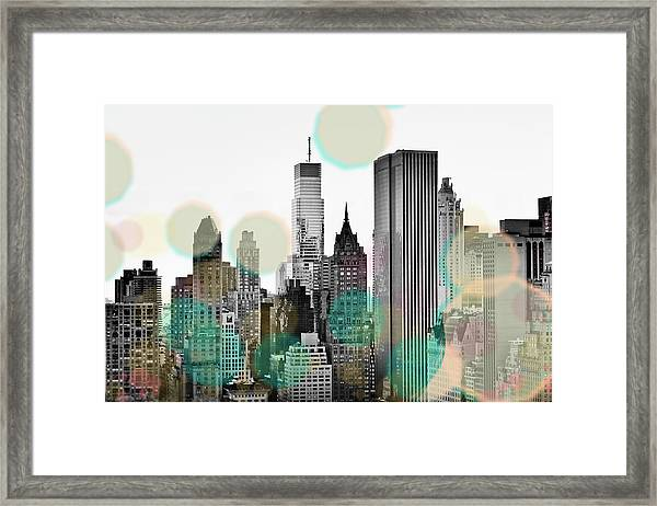 Gray City Beams Framed Print