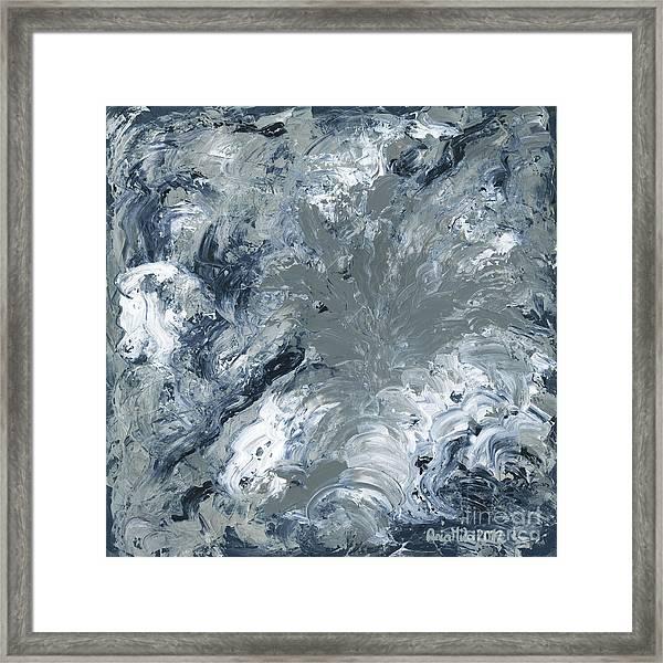 Gray Color Of Energy Framed Print