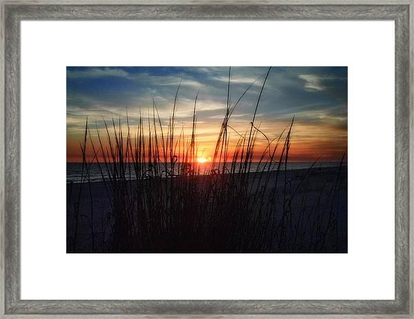 Grayton Beach Sunset 3 Framed Print