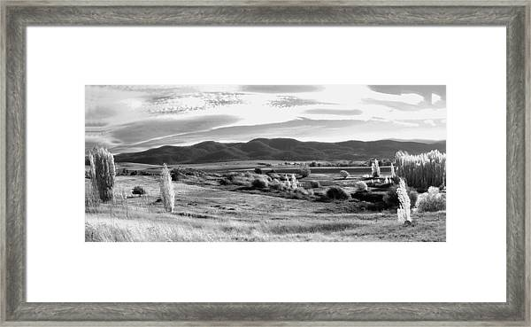Grazing Land Near Goulburn In New South Wales Framed Print