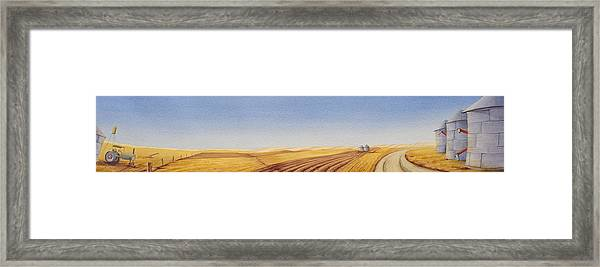Framed Print featuring the painting Grazing by Scott Kirby