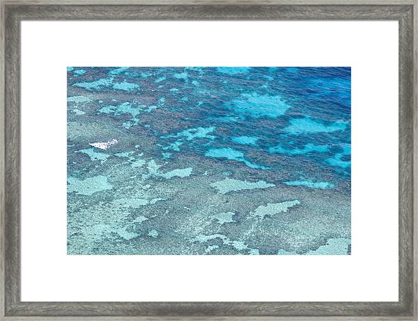 Great Barrier Reef From The Air Framed Print by Debbie Cundy