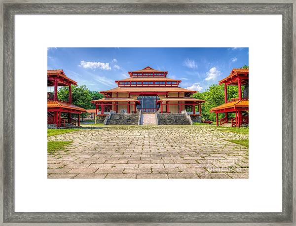 Great Buddha Hall Framed Print