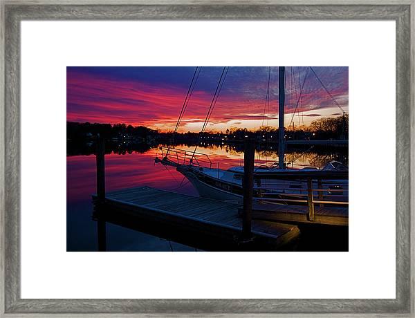 Great Egg Harbor River Sunset Framed Print