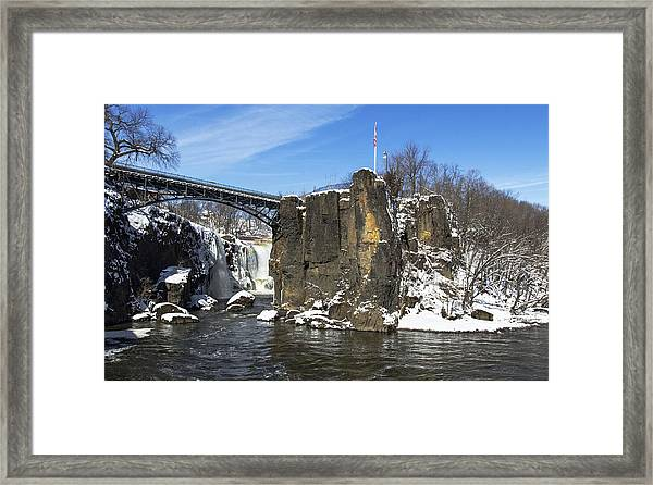 Great Falls In Color Framed Print