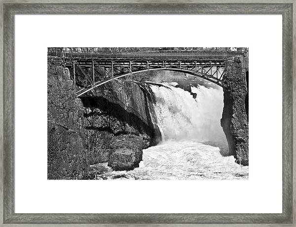 Great Falls In Paterson Nj Framed Print