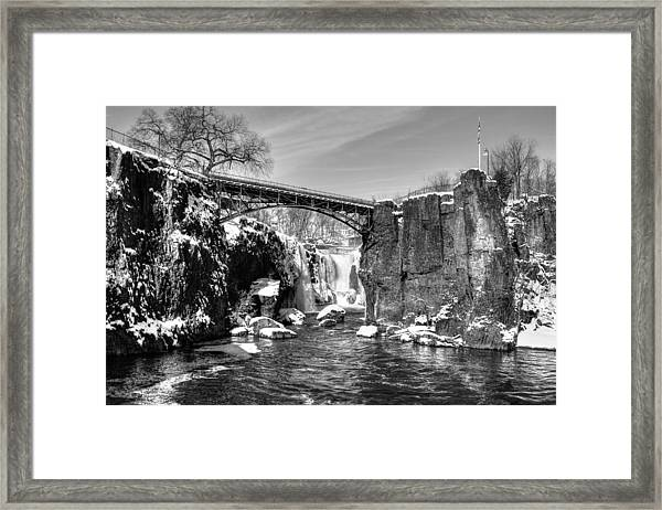 Great Falls In The Winter Framed Print