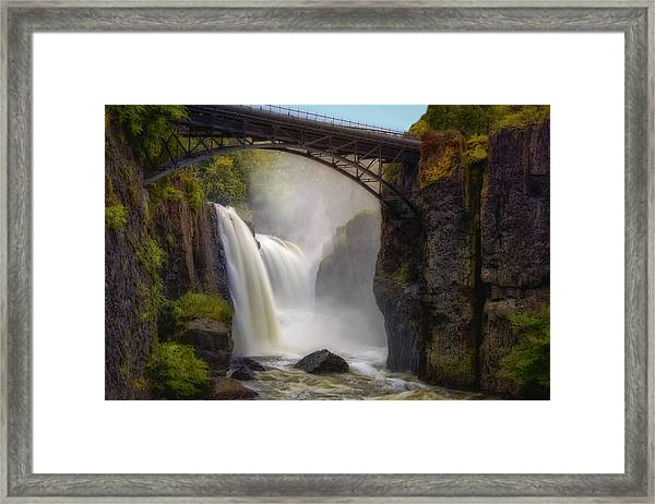 Framed Print featuring the photograph Great Falls Mist by Susan Candelario