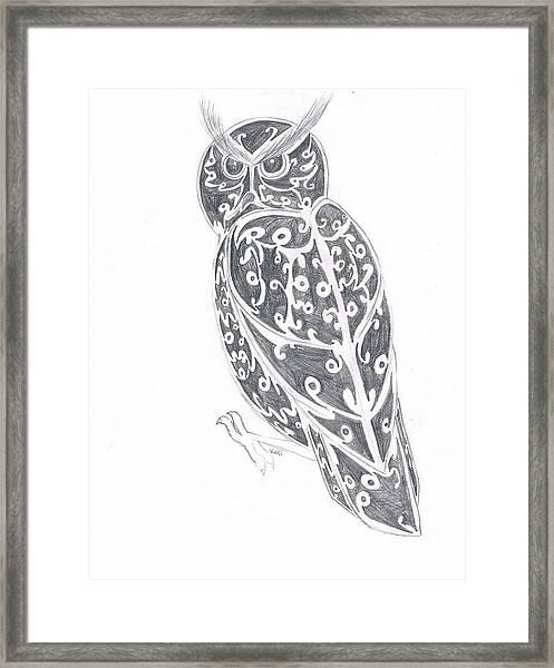 Great Horned Owl  Framed Print by Kali Kardsbykali