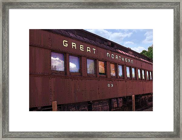 Framed Print featuring the photograph Great Northern by David Armstrong