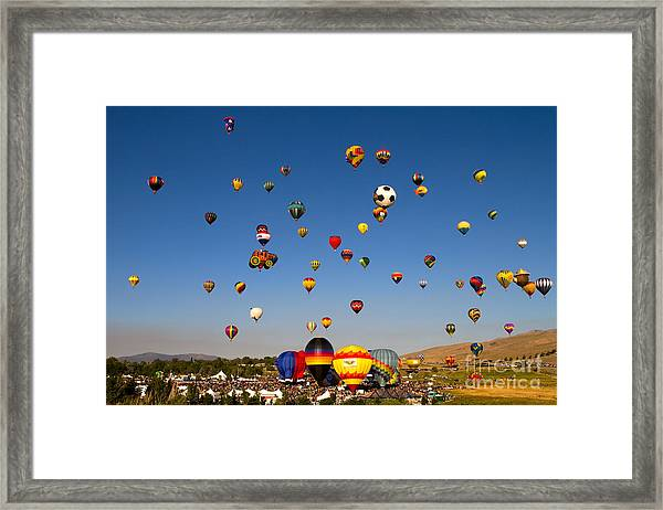 Great Reno Balloon Race Framed Print