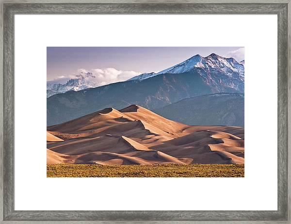 Great Sand Dunes Nat Park, Sangre De Framed Print by Witold Skrypczak