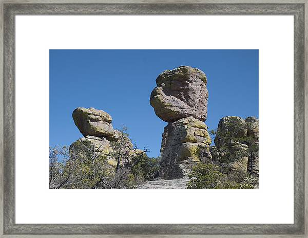 Great Stone Face Framed Print