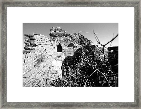 Great Wall Ruins Framed Print