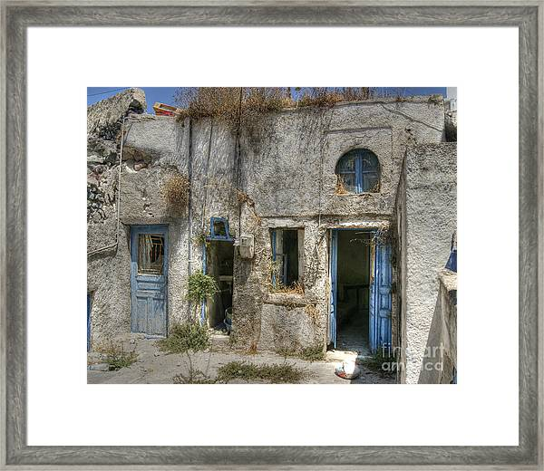 Greece Before The Tourists Framed Print