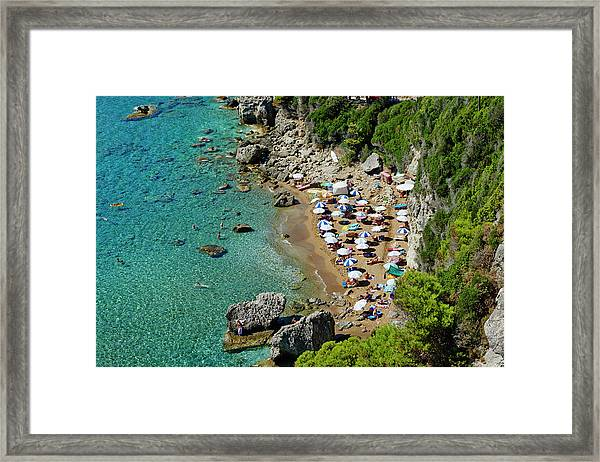 Greece, Corfu Island, Myrtiotissa Beach Framed Print